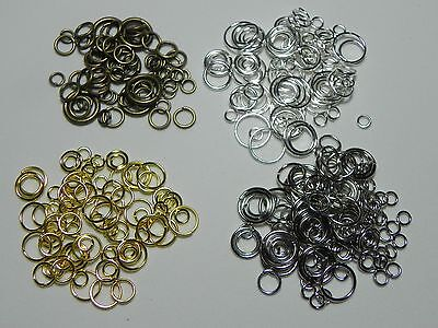 100 MIXED Jump Ring Jewelry Findings Assorted 4/6/8/10mm  *Choose your color*
