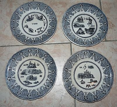 Lot De 4 Assiettes A Rebus Choisy Le Roi