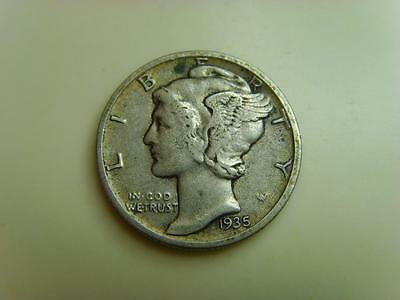 1935 Usa Dime Ten Cents Mercury Head United States Of America Coin