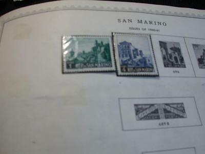 Collection Of Older Stamps From San Marino -2   (W4-27)