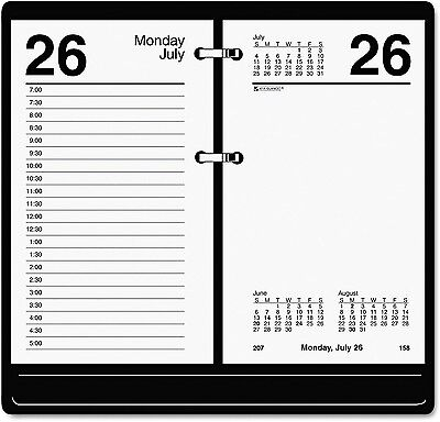 AT-A-GLANCE - Recycled Desk Calendar Refill - 3 1/2 x 6 - 2017