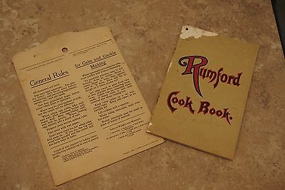 2 – Rumford Baking Powder items – Cook Book and Cooking Recipe Slide