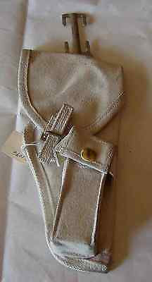 Canadian Dress White Web Holster For Inglis Hp