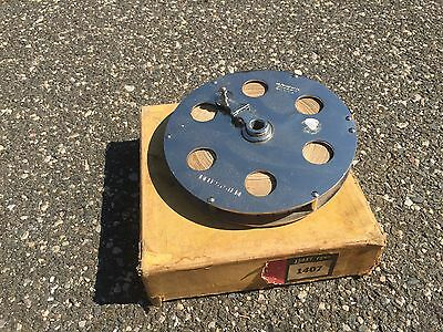 """Vintage Lufkin """"BELL SYSTEM"""" Tape Measure 150ft Chrome Linen Tape  MINT WITH BOX"""