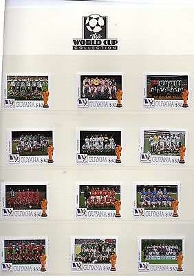 Guyana 1998 france world cup teams 32 stamps and  3 Westminster pages