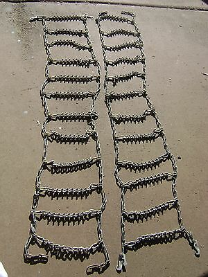 """TIRE CHAINS MUD,SNOW,ICE 70"""" L x 13"""" W -  9"""" TREAD WITH """"V"""" BAR ICE DIGGERS"""