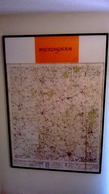 Framed Ordnance 1946 Survey Map Of Buckingham And Surrounding Areas
