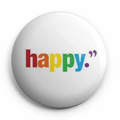 "LGBT - Gay - Happy (1"" Inch) 25mm Pin Button Badge"