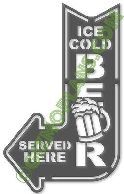 DXF Images BEER SERVED Sign CNC Plasma Laser Router dxf files cnc art
