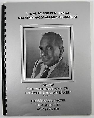 1985 The Al Jolson Centennial Souvenir Program And Ad Journal Roosevelt Hotel NY