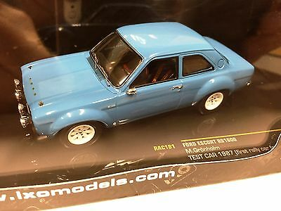 Ford Escort Rs1600 M. Gronholm Test Car 1987 - 1/43 Ixo Voiture Diecast - Rac181
