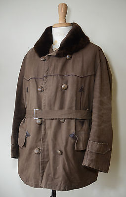 VTG 1960s French Canvas Barnstormer Coat Work Jacket Workwear Chore Mackinaw