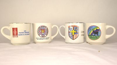 4 Boy Scout Mugs Cups 1984-88 Germany Transatlantic Council, Camp Freedom, +