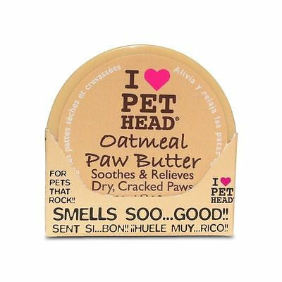 3 tubs  of  I love pet head oatmeal paw butter for cracked paws