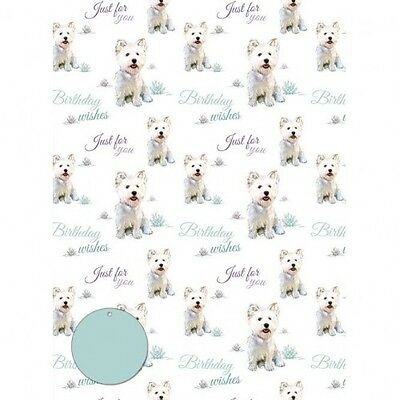 Westie Birthday Gift Wrap & Tags Pack of 2