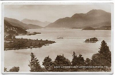 Old 1944 Real Photo Card,  Loch Lomond And Ben Lomond.   342