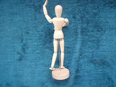 """Artists Wooden Mannequin Lay Figure 8.5"""" Moveable Figure."""
