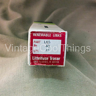 NEW Littelfuse Tracor LKS 40 Amp Renewable FUSE LINKS 600 VAC Pack of 20