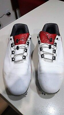 Men's DNA 2.0 BOA Spiked Golf Shoes -- Wht/Red/Blk - Sz 9.5M