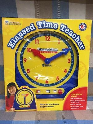Elapsed Time Teacher Clock Learning Resources Teaches Time New Unopened