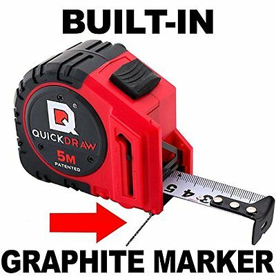 5M Metric QUICKDRAW PRO Self Marking Tape Measure - 1st Measuring Tape with a...