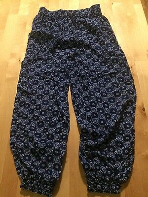 Blue Baggy Super Soft Trousers Age 7-8