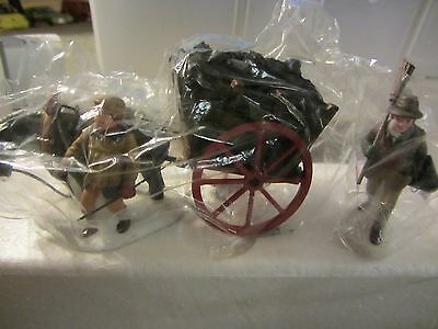 Dept 56 DELIVERING COAL FOR THE HEARTH Dickens Village 2 pc set  #58326   (d117)
