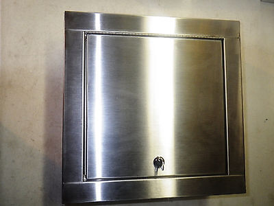 HAWS Recessed Stainless Locking Cabinet 14X14 Surface Mount HAWS9205EWCABRSS