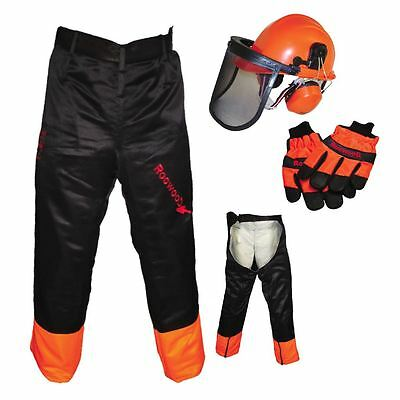 Chainsaw Safety Kit, Helmet Gloves & Chaps Type Trousers Ideal For Stihl Users