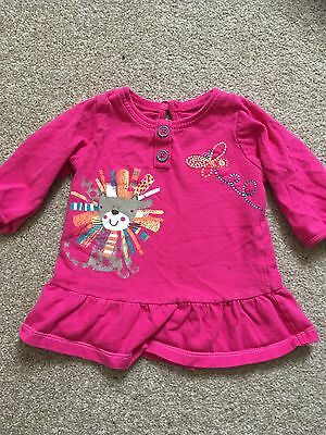 George Baby Girl Long Sleeved Top Size 0-3 Months Pink