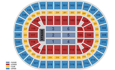 Red Hot Chili Peppers Row 2 Awesome CLUB LVL Tickets United Center Chicago 7/1