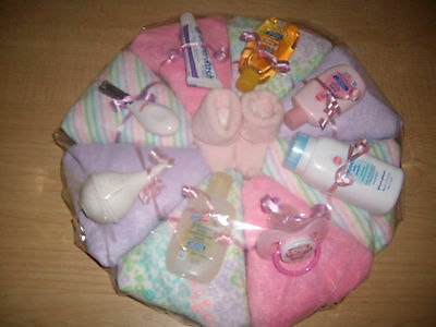Baby Girl Diaper Pizza Baby Shower Gift or Centerpiece