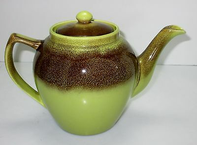 Bauer CALIFORNIA POTTERY Mission Moderne CHARTREUSE BROWN 5 Cup COMPLETE USA