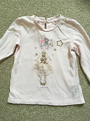 Next Baby Girl Pink Long Sleeved Top Size 3-6 Months