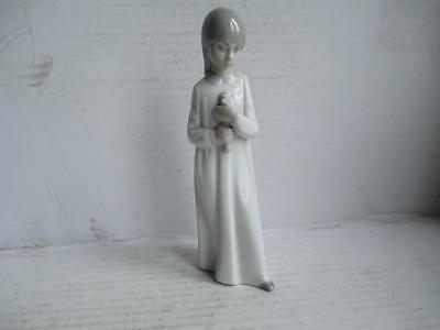 Zaphir, Lladro Figurine, 'girl With Candle'. Spain.