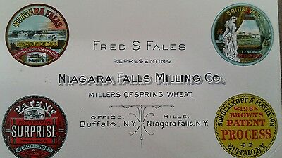 Antique business card Niagara Falls Milling Co.