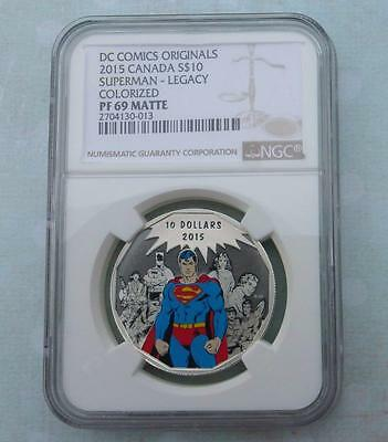 2015 NGC PF69 Superman Legacy Silver (POP 1 Matte Proof) Canada $10 the ONLY 1