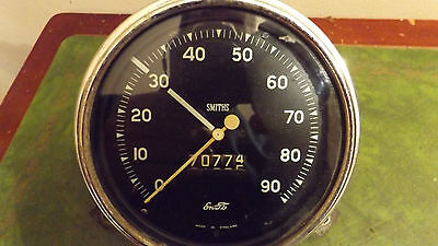 Vintage Classic Ford Smiths Enots Speedo Speedometer Tested Working