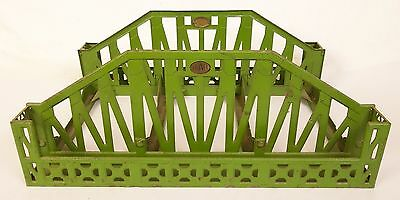 Lionel #280 Prewar Green Pressed Steel Bridge For Std. Gauge Layouts-Vg. Orig!