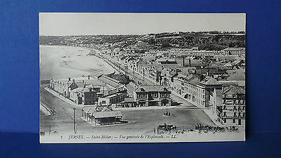 Jersey Channel Islands Postcard View of the Esplanade Louis Levy LL1 Unused