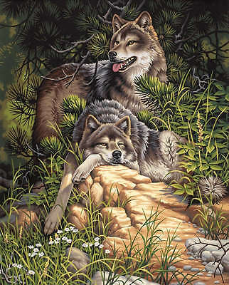 "Paint Works Paint By Number Kit 16""X20"" Wild & Free Wolves 91416"