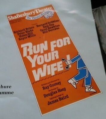 Run for your wife Programme at the Shaftesbury Theatre