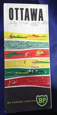 Vintage BP Canada Limited Map of Ottawa, Ontario/Free Shipping USA & Canada