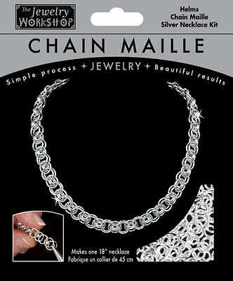 """Chain Maille Jewelry Kit 18"""" Helms Necklace   Silver 744-306-00"""