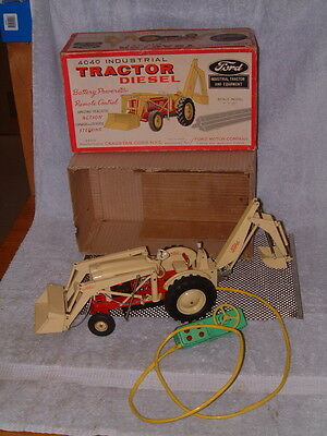 Vintage Cragstan, Tin, B/o 4040 Diesel Ford Tractor W/box. Fully Working!! Cool!