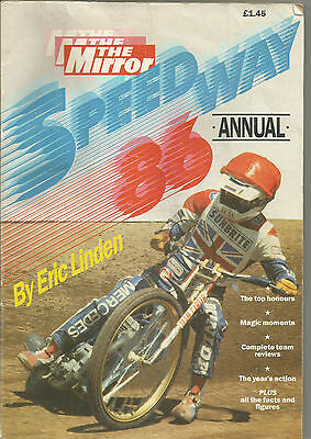 1986 Speedway Annual By Eric Linden   ( Good Condition )