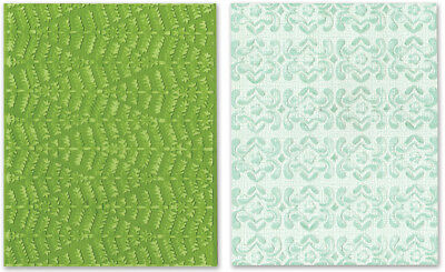 Sizzix Textured Impressions A2 Embossing Folders 2/Pkg Evergreen & Snow Flowers