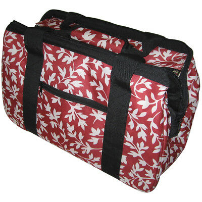 "JanetBasket Eco Bag 18""X10""X12"" Red Floral EB009"