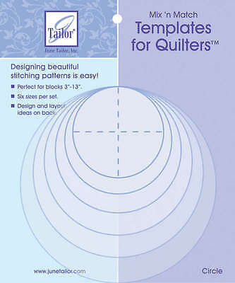 Mix'n Match Templates For Quilters 6/Pkg Circle JT400-411