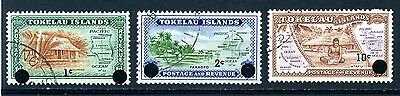 Tokelau Islands from 1967 decimal currency ovpt used
